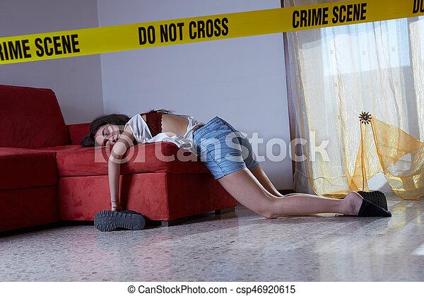 Escena del crimen - csp46920615