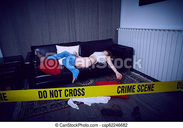 Escena del crimen - csp62246682