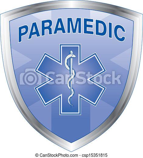 Escudo paramédico - csp15351815