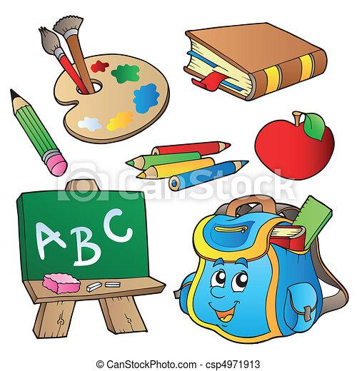Coleccion de caricaturas escolares - csp4971913
