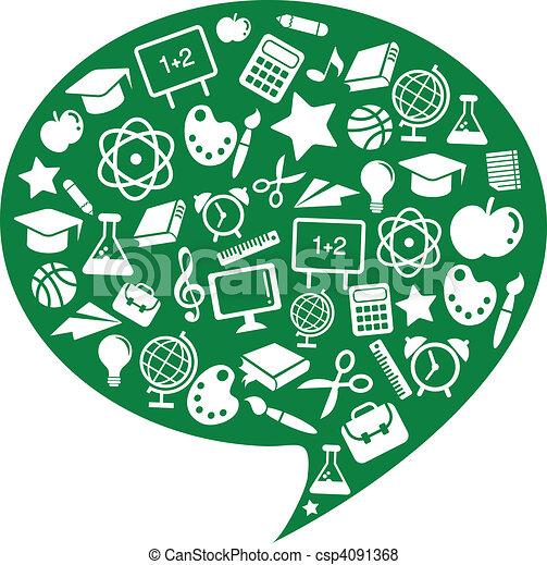iconos escolares y educativos - csp4091368