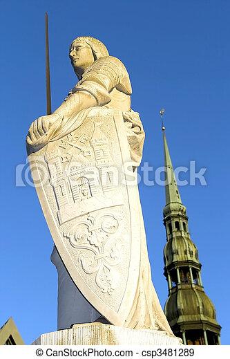 Escultura de rolandia en riga - csp3481289