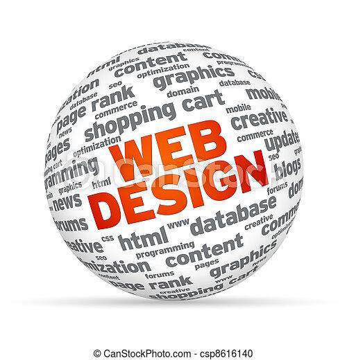 Esfera de diseño Web - csp8616140