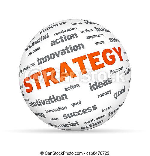 esfera de estrategia de negocios - csp8476723