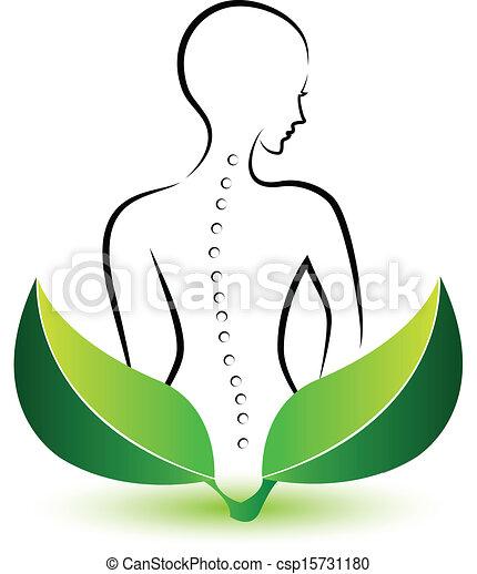 Logo de la espina humana - csp15731180