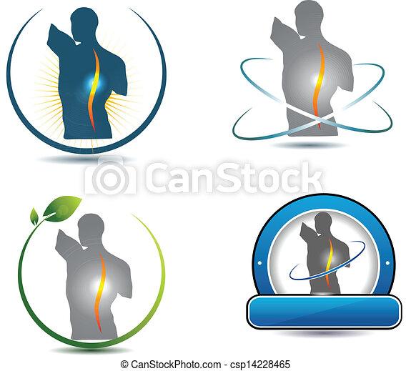 Un símbolo de la columna saludable - csp14228465