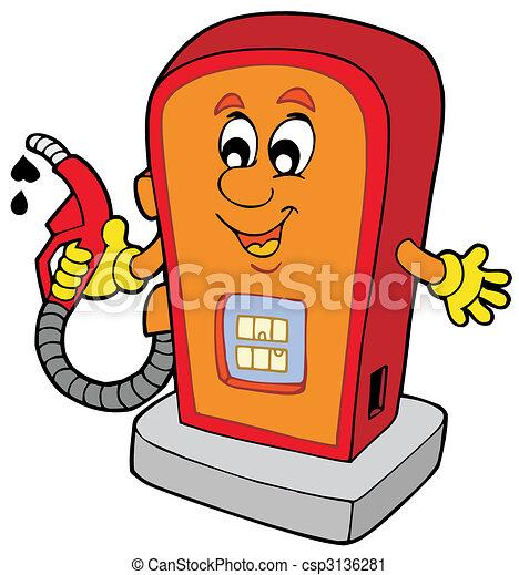 La gasolinera Cartoon - csp3136281