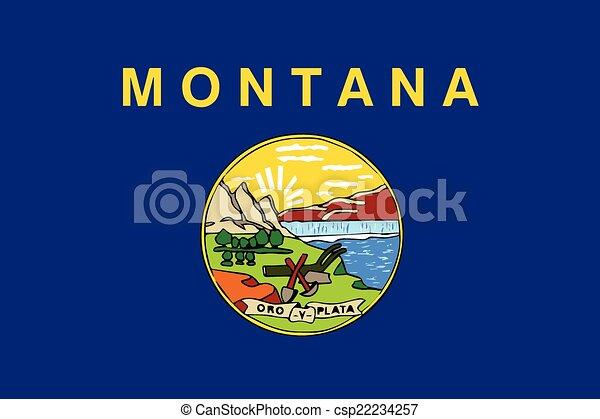 La bandera del estado de Montana - csp22234257