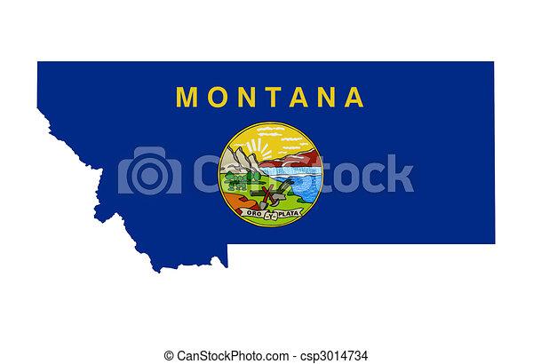 Estado de Montana - csp3014734