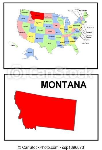 Estado de Montana - csp1896073