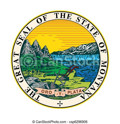 Sello estatal de Montana - csp6296906