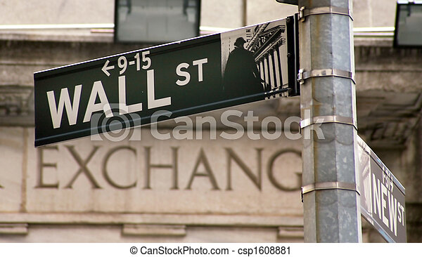 Estados Unidos, Nueva York, Walltreet, Bolsa de Valores - csp1608881