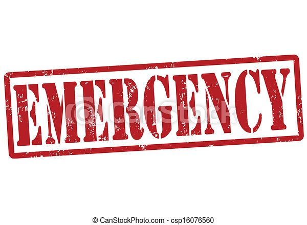 Estampado de emergencia - csp16076560