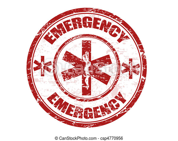 Estampilla de emergencia - csp4770956