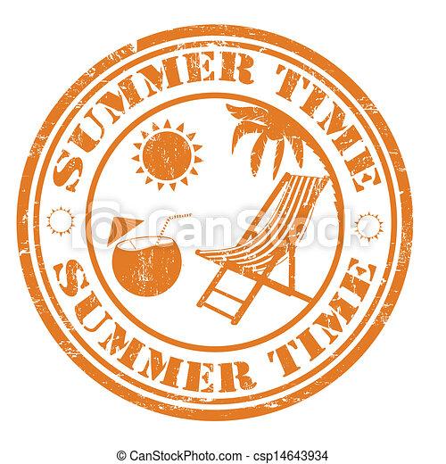 Un sello de verano - csp14643934