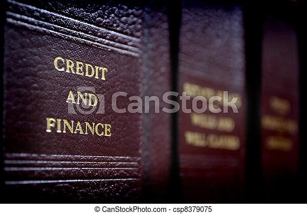 Libros de leyes en estantería - csp8379075