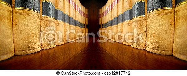 Libros de leyes en estantería - csp12817742