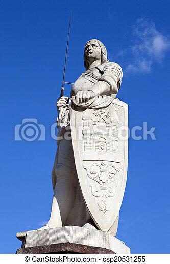 Estatua de St. Roland en riga - csp20531255