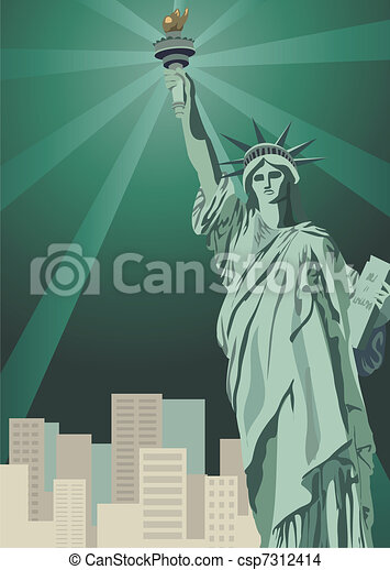 Estatua de libertad - csp7312414
