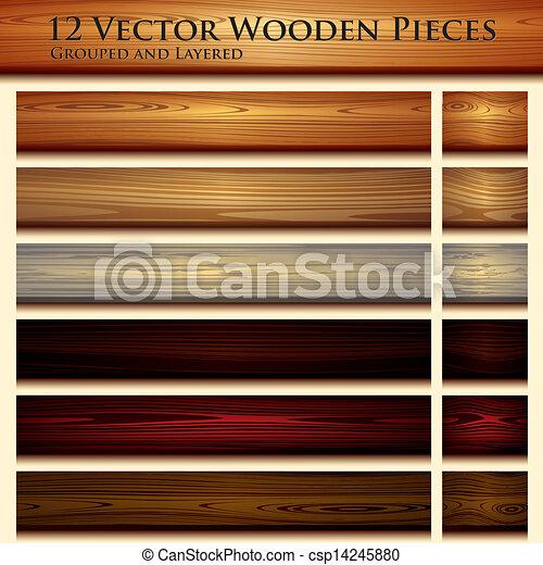 Estiércol de madera ilustrada - csp14245880