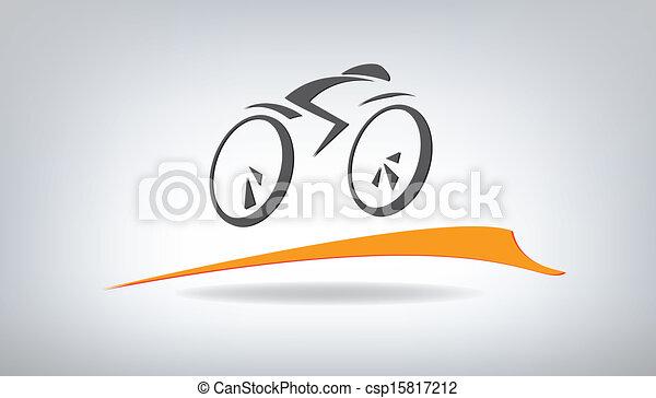 bicicleta estilizada, ilustración vectora - csp15817212