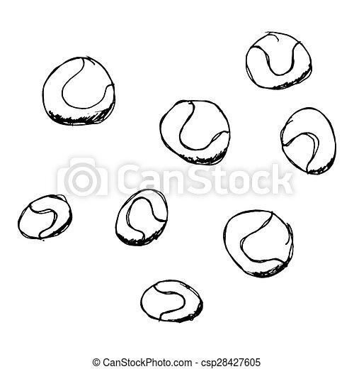 Un juego de dibujos animados - csp28427605