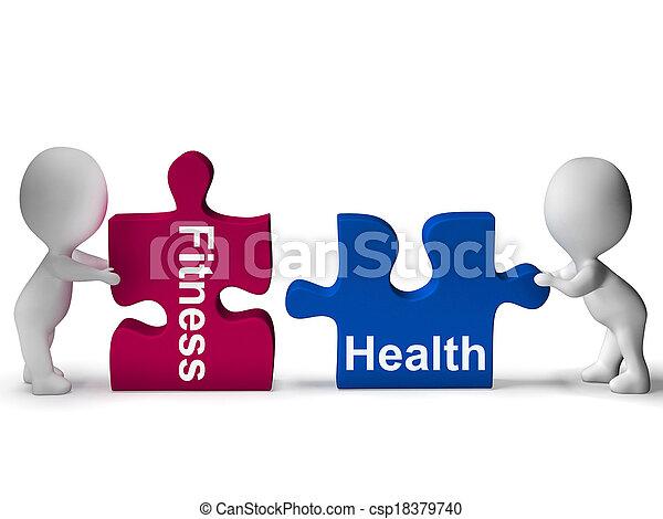 El rompecabezas de salud muestra un estilo de vida saludable - csp18379740