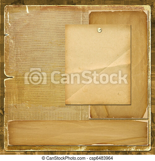 Tarjeta de invitación o de felicitación en diseño de álbumes - csp6483964