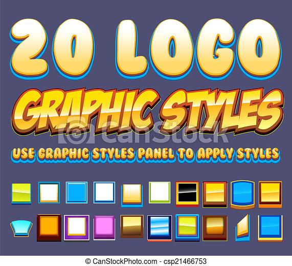20 estilos gráficos cómicos - csp21466753