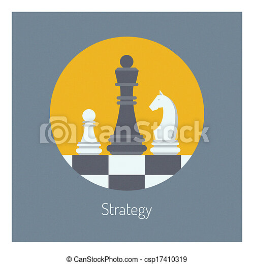 Estrategia comercial de ilustraciones planas - csp17410319