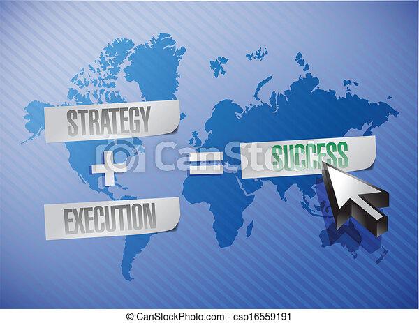 Estrategia, ejecución e ilustración de éxito - csp16559191