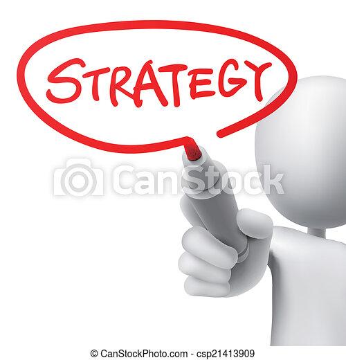 Estrategia escrita por un hombre - csp21413909