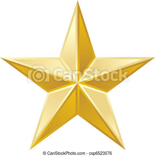 Estrella de oro - csp6523076