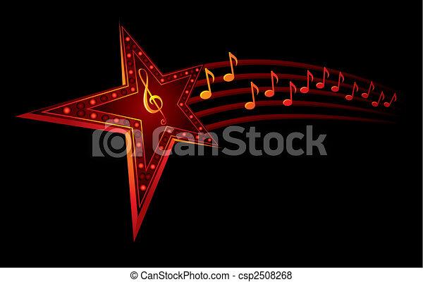 Estrella musical - csp2508268