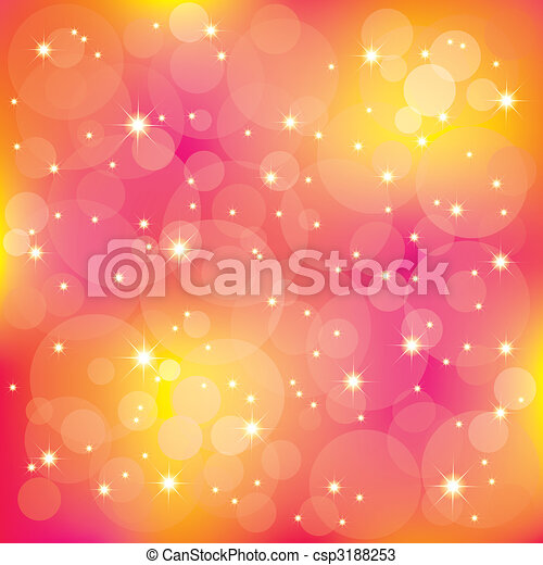 Estrellas resplandecientes iluminan los colores - csp3188253