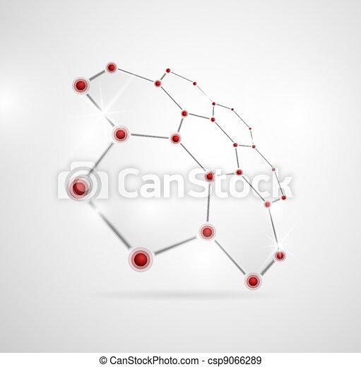 Estructura molecular - csp9066289