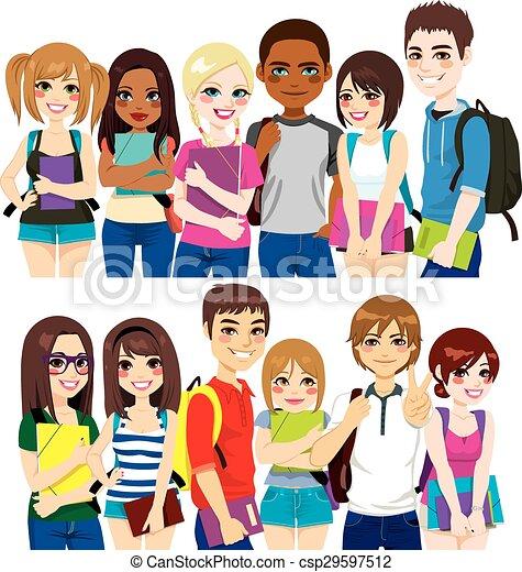 Grupo de estudiantes - csp29597512