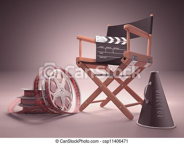 Estudio de cine - csp11406471