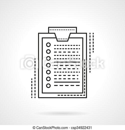 Estudio línea plana de diseño icono vectorial - csp34922431