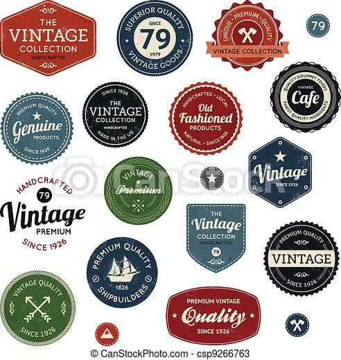 Etiquetas de vintage - csp9266763