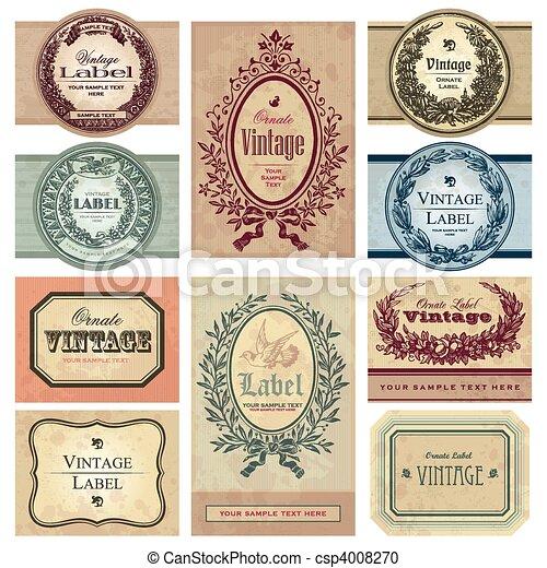 Etiquetas de vitrina establecidas (vector) - csp4008270