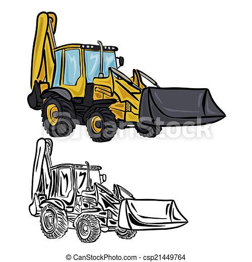 Cargador Excavador - csp21449764