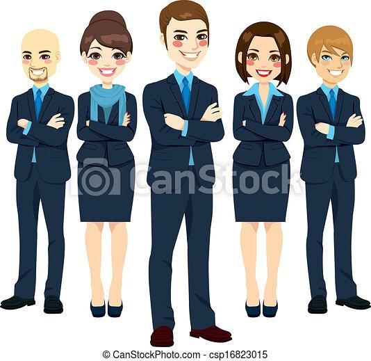 Un equipo de negocios exitoso - csp16823015