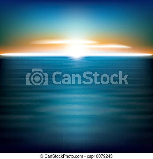 Extracto fondo con el amanecer del mar - csp10079243