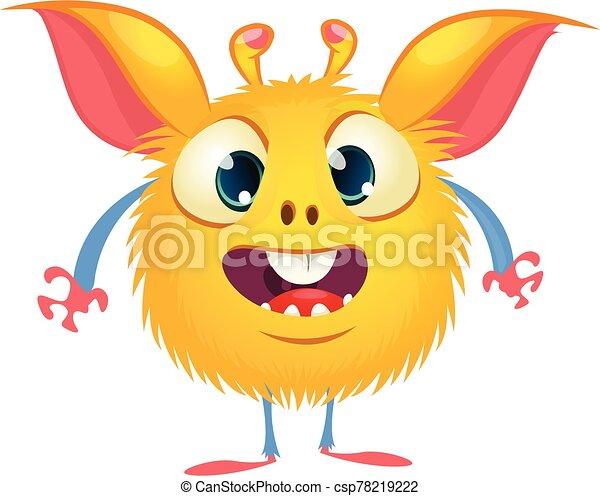 eyes., monstruo, carácter, lindo, caricatura, vector, grande, divertido - csp78219222
