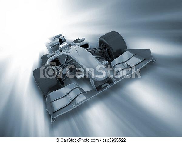 Fórmula un auto - csp5935522