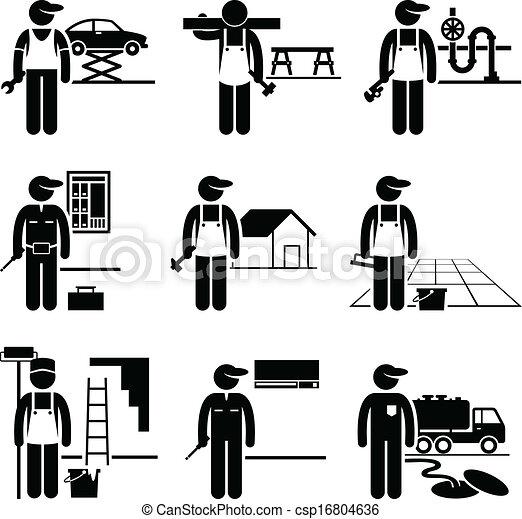 Trabajos hábiles - csp16804636