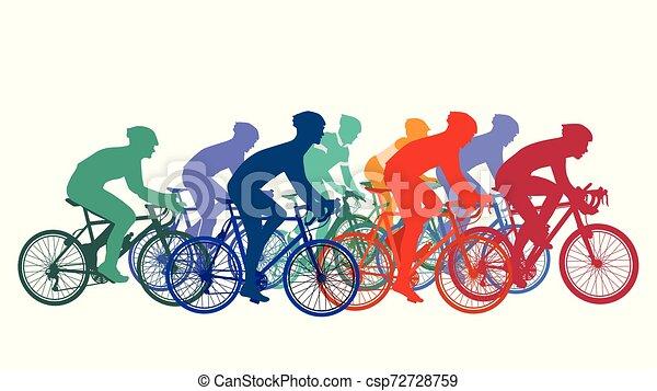 Fahrrad-rennen.eps - csp72728759