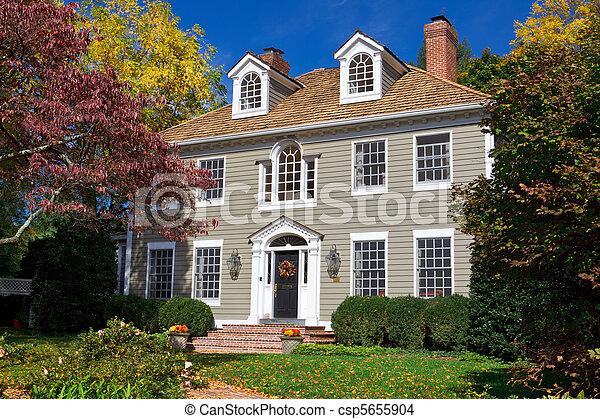 Suburrir la casa de la familia en la colonia georgiana - csp5655904