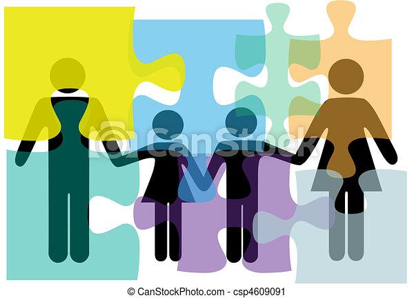 Los servicios de salud de la familia son un rompecabezas - csp4609091